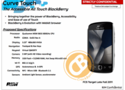 BlackBerry Curve Touch revealed by leaked roadmap  - photo 2