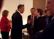 Steve Jobs, Mark Zuckerberg and others dine with the President - photo 2