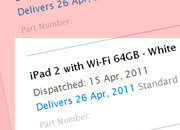 Apple iPad 2 online orders will take over a month to arrive - photo 1