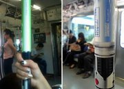 Star Wars lightsaber lights up on Tokyo subway - photo 2
