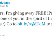 Lady Gaga Twitter hack tricks fans into free iPad 2 scam - photo 2