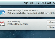 iOS style notifications hit OS X Mountain Lion in new Notification Center - photo 3