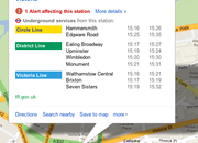 Google Maps adds London Underground real time alerts - photo 2