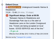 Google Maps adds London Underground real time alerts - photo 3