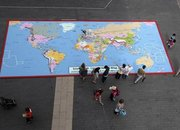 Lego map of the world completed outside Southbank Centre - photo 1