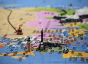 Lego map of the world completed outside Southbank Centre - photo 3