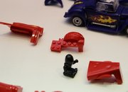 Scalextric Quick Build Demolition Derby set plays nice with Lego - photo 3