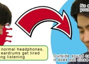 "Thanko's ""ears-free"" bone conduction headphones  - photo 1"