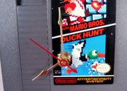 Super Mario / Duck Hunt NES game cartridge clock  - photo 3