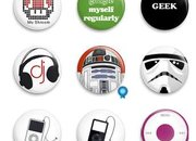 Prickie badge buttons for geeks  - photo 1