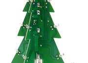 Motherboard Christmas tree with LED lights  - photo 2