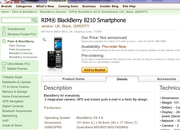 Expansys leaks BlackBerry 8210 clamshell - photo 2