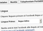 Facebook now available in Latin - photo 1