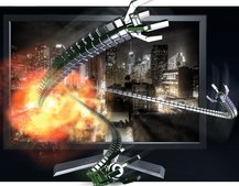 Nvidia demos 3D Blu-ray playback from PC