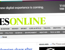 Times and Sunday Times websites to charge from June