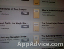 iPad iBook store to get Gutenberg Project titles
