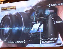 Sony A33 and A55: The see-through cameras
