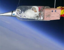 VIDEO: Potato dressed as Santa launched into space by schoolkids