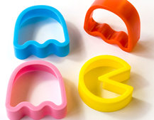 Pac Man cookie cutters make ghosts to munch on