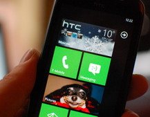HTC Windows Phone 7 hub rains in weather info