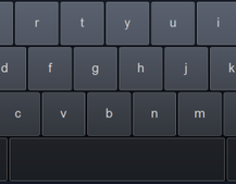 Touchscreen keyboard UI hints at Chrome / Android mashup