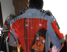 VIDEO: Wearable LED coat takes portable TV to the next level