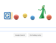 Google doodle celebrates Art Clokey's life with Gumby animation