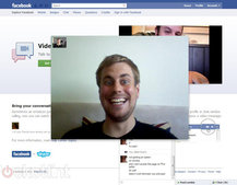 Facebook video calling dials into Skype