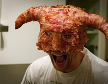 Forget dragonscale, behold the Skyrim bacon helmet!