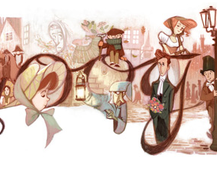 Google Doodle celebrates the life of Charles Dickens