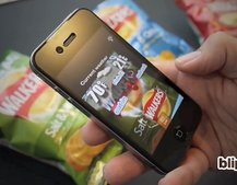 Walkers crisp packets use Blippar augmented reality app to display weather forecast
