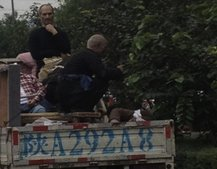 Second Steve Jobs waxwork spotted, this time in the back of a truck