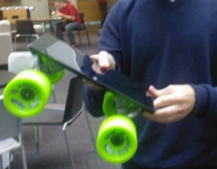 Microsoft Surface tablet used as a skateboard... by Windows president