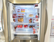 LG smart fridge pictures and hands-on