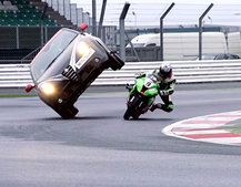 Alfa Romeo MiTo SBK has crazy superbike launch stunt (video)