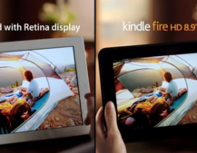 Amazon compares Kindle Fire HD and iPad screen in TV commercial