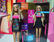 Barbie hits the club with digital dress