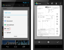 Google Drive for Android gets card-style design and document scanning