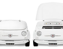 Smeg chops up old Fiat 500s, turns them into fridges