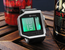 Kisai Intoxicated watch from Tokyoflash features breathalyser so you know your limits