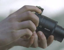 Sony ad for attachable QX10 and QX100 smartphone lenses leaks