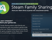 Valve's Steam Family Sharing lets users share games, beta coming next week