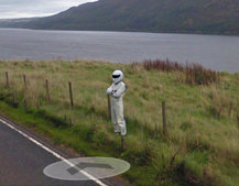 Top Gear's The Stig appears on Google Maps Street View