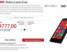 Verizon lists Nokia Lumia 929 as 'Nokia Lumia Icon' with $777 on-contract price
