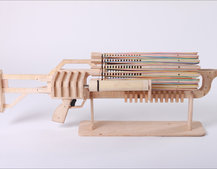 Rubber Band Rambo Gatling gun fires 672 rounds in 48 seconds