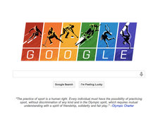 Google doodle attacks Russian anti-gay law with Olympics theme