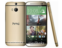 HTC One (M8) should also be coming in gold, here's a leaked look