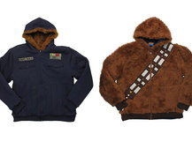 Dress as Han Solo and Chewbacca with this excellent reversible Star Wars hoodie