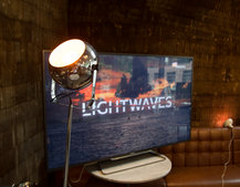 Philips Ambilight with Hue lights up the Pocket-lint Tech Tavern
