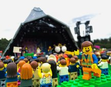 What's more awesome than Glastonbury? Lego Glastonbury